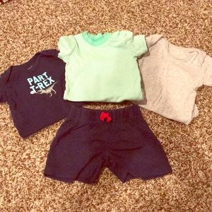 Baby Boy 6 Month Bundle- Onesies and Shorts!